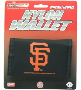Giants Rico Tri Fold Wallet - San Francisco Giants Nylon Trifold Wallet