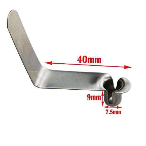 UP100® 50pcs Stainless Steel Seawater Kayak Paddle Tent Pole Push Hollow Button Spring Clips Snap Locking Tube Single Pin