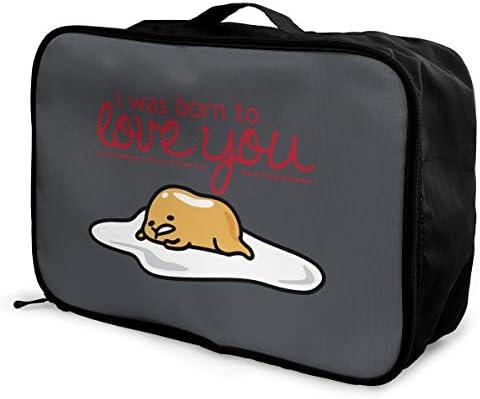 アレンジケース ぐでたま 旅行用トロリーバッグ 旅行用サブバッグ 軽量 ポータブル荷物バッグ 衣類収納ケース キャリーオンバッグ 旅行圧縮バッグ キャリーケース 固定 出張パッキング 大容量 トラベルバッグ ボストンバッグ