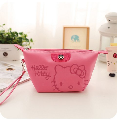 CJB Lovey Sanrio Japan Hello Kitty Cosmetics Bag Coin Pocket Rose Pink