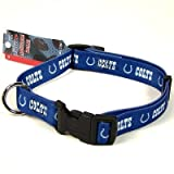 INDIANAPOLIS COLTS ADJUSTABLE NYLON DOG PET COLLAR SZ M