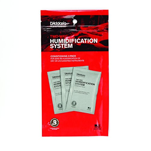 D'Addario Two-Way Humidification System Conditioning Packets, 3-pack