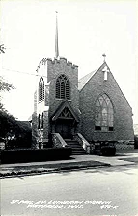 Amazon com: St  Paul Ev  Lutheran Church Waterloo, Wisconsin