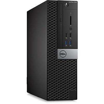 Dell HNHKX OptiPlex 7040 SFF Small Desktop (Intel Core i7-6700, 16GB 2133MHz DDR4 RAM, 256G SSD, Windows 10 Pro, Black)