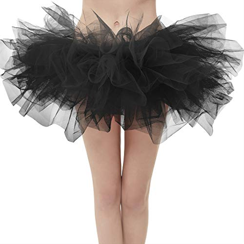 (Topdress Layered Tulle Tutu Skirts Black Regular)
