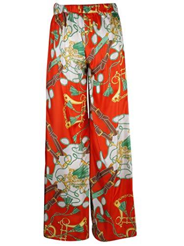Pantalon a Femme h s Rouge r D230252819 Soie o P w7fqapFczf