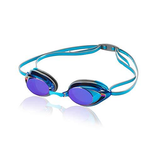 Speedo Vanquisher 2.0 Mirrored Swim Goggles, Panoramic, Anti-Glare, Anti-Fog with UV Protection (Swim Prescription Goggles)