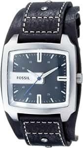 Fossil JR9991 - Reloj analógico de cuarzo para hombre con correa de piel, color negro