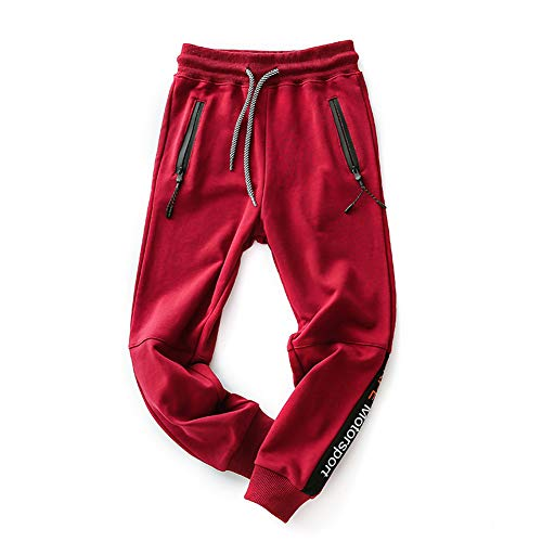 - Koupa Boys Stretch Pants Soft Sweatpants for Kids 7-8 Years Red