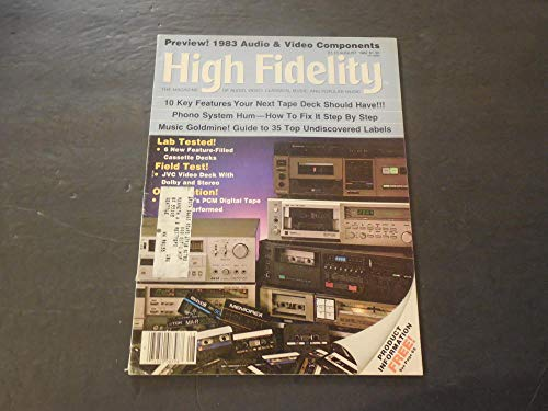 High Fidelity Aug 1982 Preview 1983 Audio And Video Components