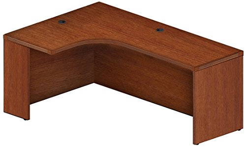 "Mayline AEC72LLCR Aberdeen 72""W Left Extended Corner Table, Cherry Tf"