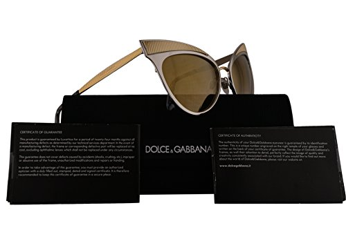 Dolce & Gabbana DG2178 Sunglasses Grey Gold w/Brown Mirror Lens 57mm 13136E DG - Sunglasses Cheap Dolce And Gabbana