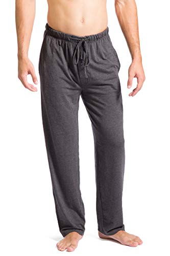 Fishers Finery Mens Ecofabric Jersey Pajama Pant Pockets Casual Pant HTHR Gry, L Charcoal Heather Gray