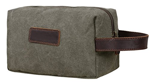 Canvas Travel Toiletry Organizer Shaving Dopp Kit Cosmetic Makeup Bag#204 (army green)