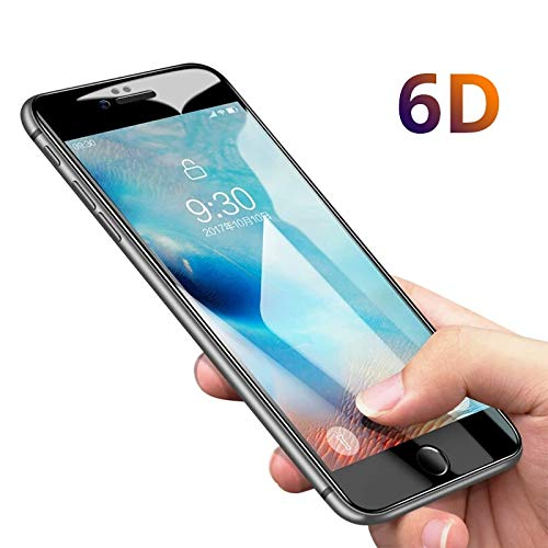 f520870ae08c38 Image Unavailable. Image not available for. Color: 6D Curved Edge Full  Cover Tempered Glass for iPhone 6 6S 7 8 Plus Screen Protector