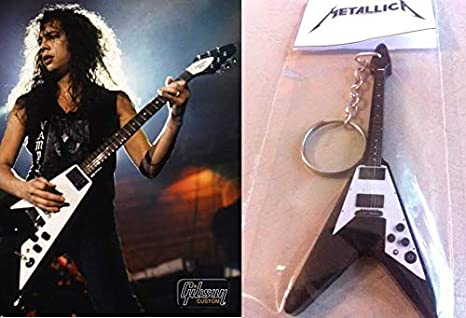Llavero de guitarra Gibson Flying V Kirk Hammett Metallica: Amazon ...