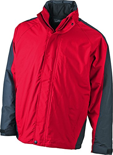 Cerniera Red Interna Jacket one in Staccabile Multifunzionale In black Fleece Con Two Giacca Doppia n0TFZZ
