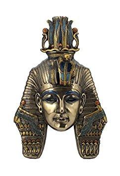 (King TUT Tutankhamum Mask Egyptian Pharaoh Wall Plaque Sculpture)