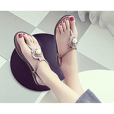 US8 Sandals Women'S Spring Blushing 5 5 Pu Flat EU39 Pink CN40 Black Comfort UK6 RTRY Green Casual PHqwpH
