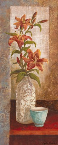 (Canvas Spiced Jewels I - Mini Amazing Modern Bouquet Best Vase Sign Awesome Flower Cup 08x20)