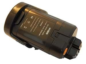 vhbw Batería 2000mAh (10.8V) para Bosch PMF PSM PSR 10.8 LI Berner BTI 10.8, BACP 10.8, Würth Master 10.8 sustituye 034300, 2607336863, 2607336864 etc