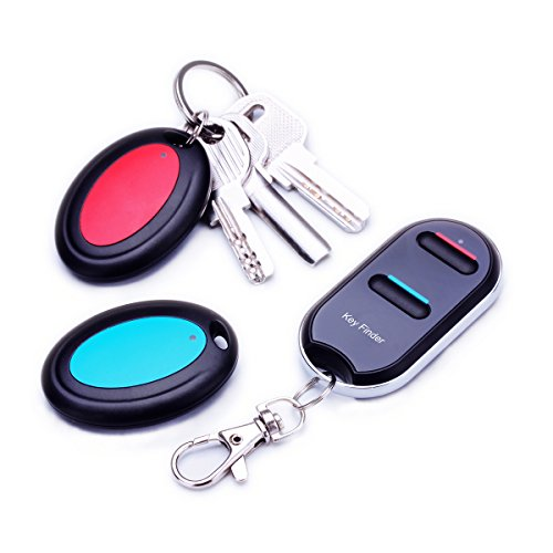 Wireless Wallet Locator Set by Vodeson, Portable RF Key Finder with 2 Key Ring Receivers, No APP Required by Vodeson