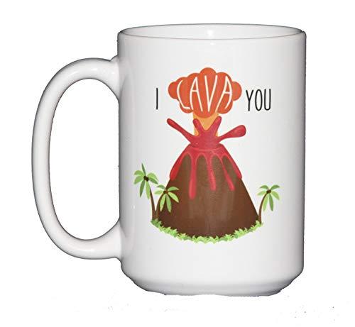 (15oz I LAVA You Funny Volcano Puns Romantic Coffee Mug)