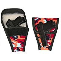 Concealed Carry Removable Purse Holster- For Small Guns (Tangerine Camo)
