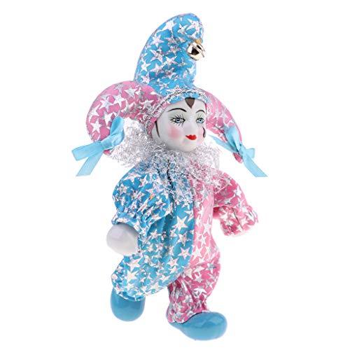 Prettyia 20cm Cute Italian Eros Porcelain Triangel Doll with Tear in Costume Home Display Decor -