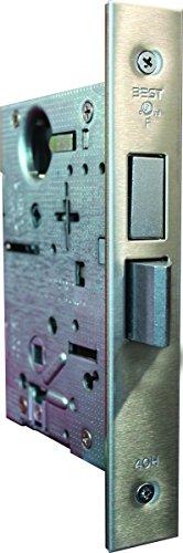 Stanley Best 45HCA UNT 626 Steel Standard Mortise Lock Case, Universal, Deadbolt, Satin Chrome, 2'' by Stanley Best
