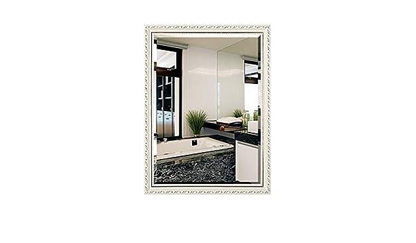 ZHILIAN& Espejo del Baño Espejos De Alta Definición Montados En La Pared Hermoso Retro Dormitorio Familiar Sala De Estar Baño Multifunción Espejo De Vanidad (Size : 50x70cm): Amazon.es: Hogar