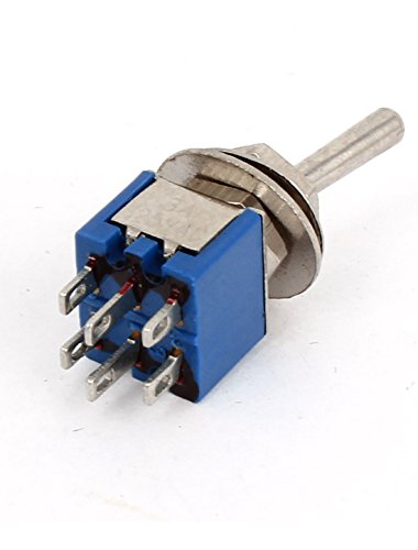 SPDT On/ON Dual Positions 6 Pin Latching Toggle Switch AC 125V 3A