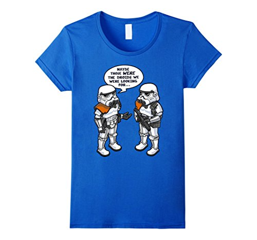 Womens Star Wars Wrong Droids Funny Comic Graphic T-Shirt XL Royal Blue