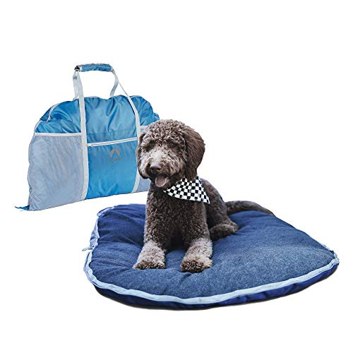 Lightspeed Outdoors Ultra-Plush Fold and Go Travel Pet Bed with Machine-Washable Cover for Travel, Car and Camping (Travel Bed Hardware Canine)