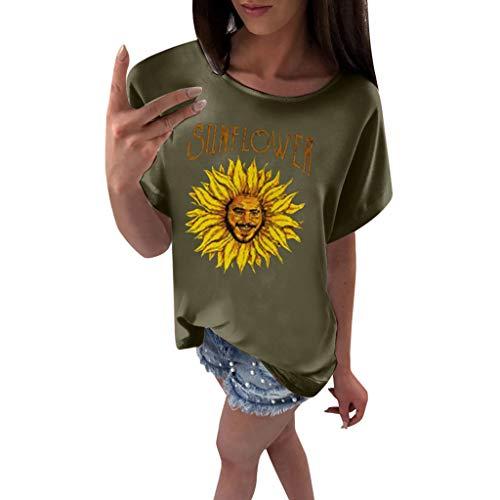 Sherostore ♡ Sunflower Shirt Graphic Tank Tops for Women Funny Letter Print Tees Teen Girls Beach Vest T Shirt