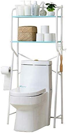 BXU-BG (:ホワイト、サイズ:58×30×140センチメートルカラー)キッチン&バス用トイレ収納シェルフユニットの浴室スペースセーバーホワイトメタルバスルームオーガナイザーオーガナイザーストレージ2層自立オーバーシャワー
