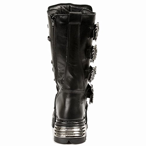 Rock New Black 403 Boots Black Men's M Mettalic Leather S1 C6wqrCx