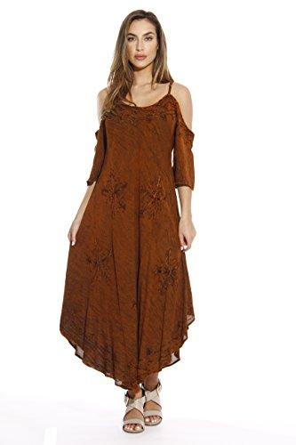 (Riviera Sun 21716-RUST-L Dress/Dresses for Women)
