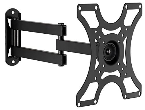 "Mount-It! TV Wall Mount Bracket with Full Motion Arm Fits 13-42"" Flat Screen TVs VESA 75, 100, 200, 55lb Weight Capacity WITH 15"" EXTENSION"