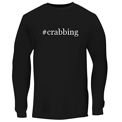 (BH Cool Designs #Crabbing - Men's Long Sleeve Graphic Tee, Black, Large)