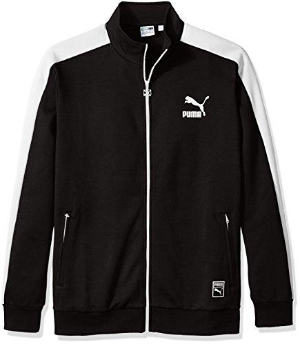PUMA Men's Archive T7 Track Jacket, Black, X-Large