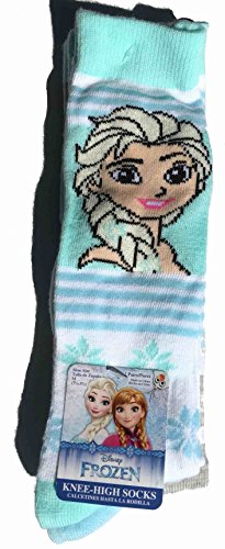2 Pair Frozen Knee High Elsa Cool Like That Socks Medium 7.5-3.5