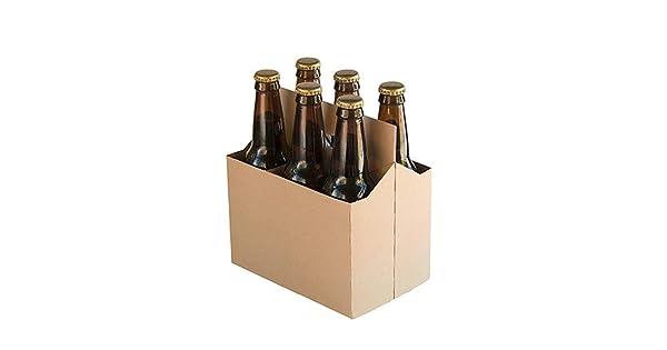 Amazon.com: Paquete de 6 portabotellas de cartón para ...