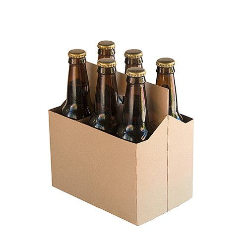 6 Pack Cardboard Beer Bottle Carrier For 12 oz. Bottles - 10 Count