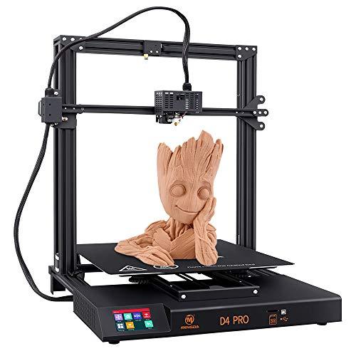MINGDA D4 Pro Auto Leveling 3D Printer FDM Large Build Volume DIY 3D Printers Kit with Direct Drive, Dual Leadscrew Z, Filament Runout Sensor, Resume Printing, 3.5''Color Touch Screen, 420x420x400mm
