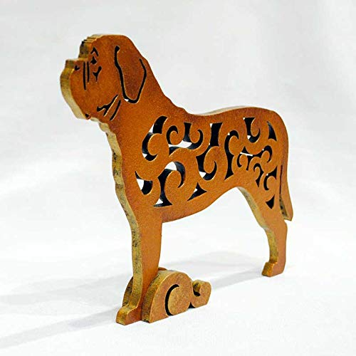 Dogue de Bordeaux faience figurine porcelain dog figurine handmade