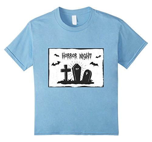 Kids Horror Night Tombstones Graveyard T-Shirt 4 Baby (Funny Tombstones Sayings For Halloween)