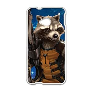 rocket raccoon HTC One M7 Cell Phone Case White present pp001_7926801