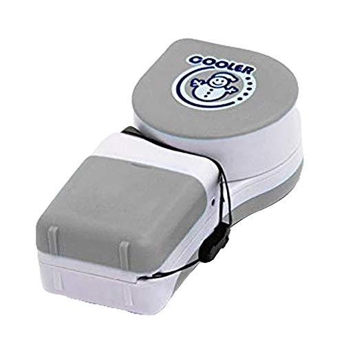 tlongtea65 Mini Snowman Adjustable Handheld No-Blade Student USB Cooler Fan Air Conditioner Grey ()