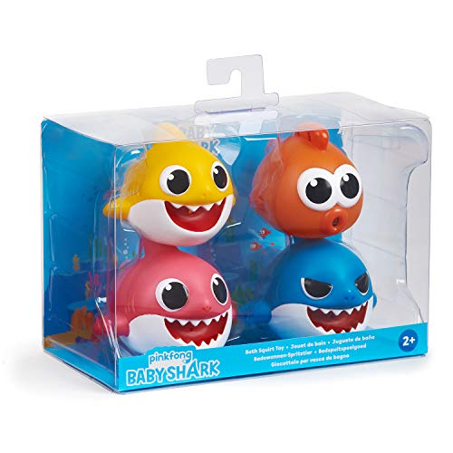 41%2Br1F eeqL - WowWee Pinkfong Baby Shark Bath Squirt Toy - 4 Pack